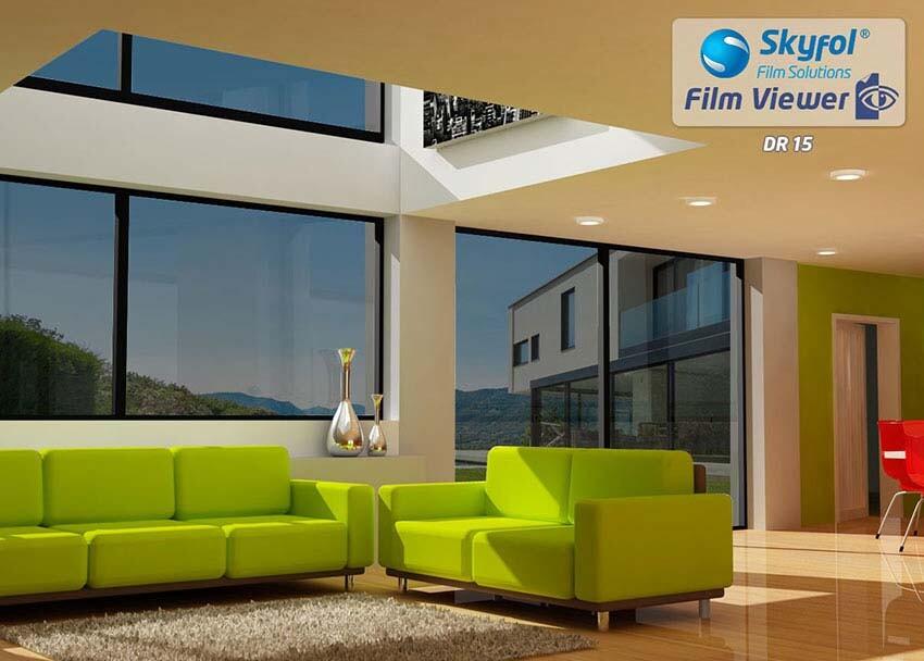 DR15 fényvédő és hővédő ablakfólia