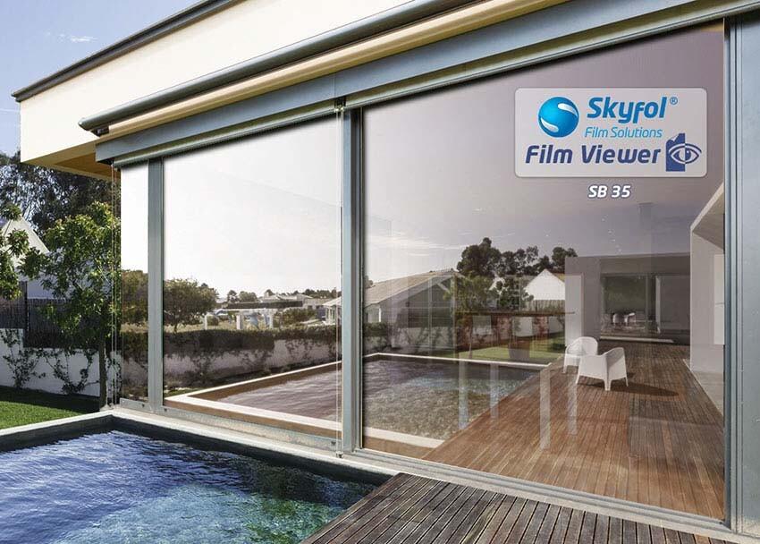 SB35 fényvédő és hővédő ablakfólia
