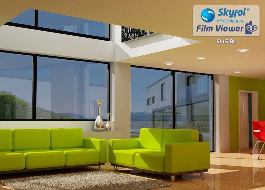 SI15 BL fényvédő és hővédő ablakfólia