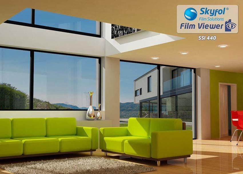 SkyFol SSI440 Biztonsági ablaküveg fólia fényvédővel.