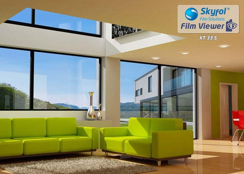 Kültéri hő- és fényvédő ablaküveg fólia.