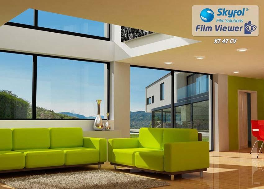 Skyfol Kültéri hő- és fényvédő ablaküveg fólia.